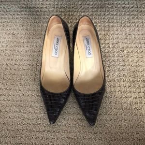 Snakeskin leather pointed toe Jimmy Choo pumps